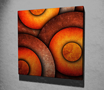 Tablou decorativ pe panza Symphony, 762SYM1232, 45 x 45 cm, Multicolor imagine