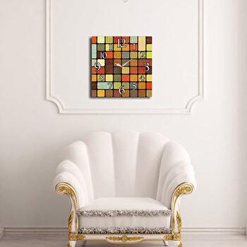 Ceas decorativ de perete Home Art, 238HMA3151, 40 x 40 cm, Multicolor imagine