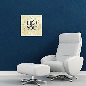 Ceas decorativ de perete Home Art 238HMA3150 40 x 40 cm Bej