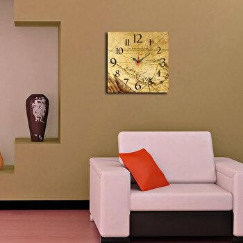 Ceas decorativ de perete Home Art, 238HMA3152, 40 x 40 cm, Bej