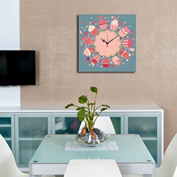 Ceas decorativ de perete Home Art 238HMA3168 40 x 40 cm Multicolor
