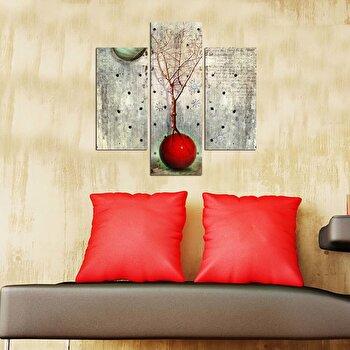 Tablou decorativ Multicanvas Three Art, 3 Piese, 251TRE1905, Multicolor elefant