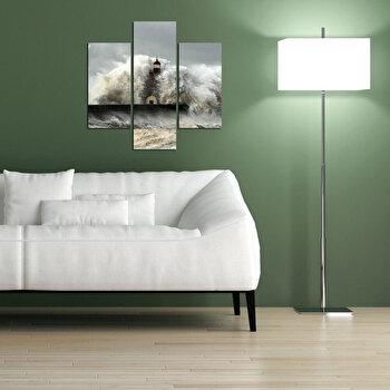 Tablou decorativ Multicanvas Three Art, 3 Piese, 251TRE1911, Multicolor elefant