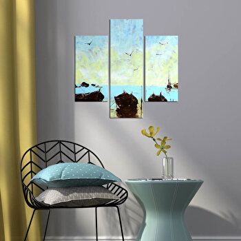 Tablou decorativ Multicanvas Three Art, 3 Piese, 251TRE1919, Multicolor elefant