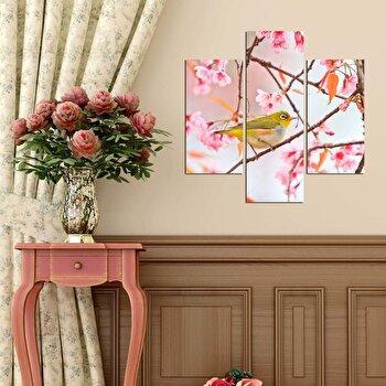 Tablou decorativ Multicanvas Three Art, 3 Piese, 251TRE1920, Multicolor elefant