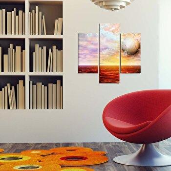 Tablou decorativ Multicanvas Three Art, 3 Piese, 251TRE1928, Multicolor elefant