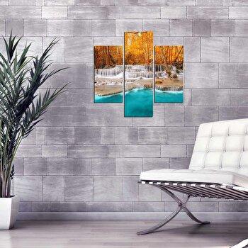 Tablou decorativ Multicanvas Three Art, 3 Piese, 251TRE1938, Multicolor elefant