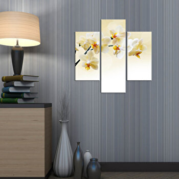 Tablou decorativ Multicanvas Three Art, 3 Piese, 251TRE1949, Multicolor elefant