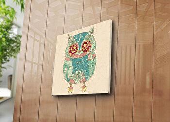 Tablou decorativ Bonanza, 242BNZ1219, 45 x 45 cm, Multicolor elefant
