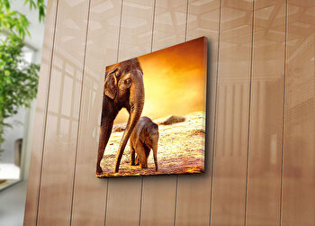 Tablou decorativ Bonanza, 242BNZ1228, 45 x 45 cm, Multicolor imagine