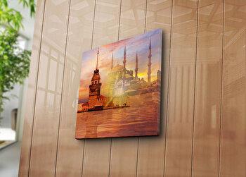 Tablou decorativ Bonanza, 242BNZ1242, 45 x 45 cm, Multicolor imagine