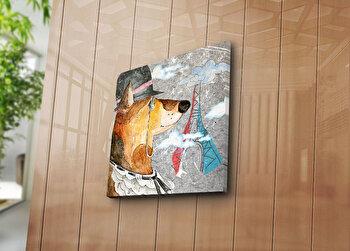 Tablou decorativ Bonanza, 242BNZ1266, 45 x 45 cm, Multicolor elefant