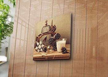 Tablou decorativ Bonanza, 242BNZ1278, 45 x 45 cm, Multicolor elefant