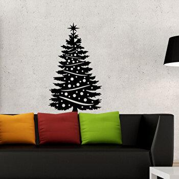 Sticker decorativ de perete Christmas Wall, 229CST1024, Negru elefant