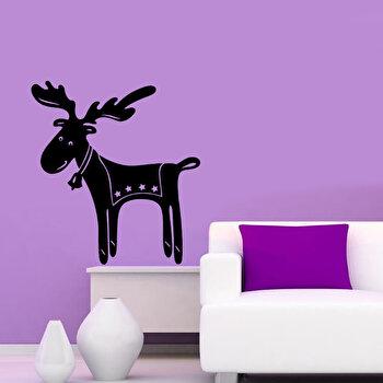 Sticker decorativ de perete Christmas Wall, 229CST1028, Negru imagine