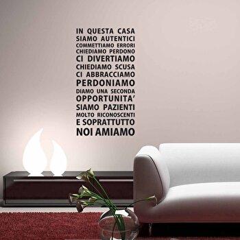 Sticker decorativ de perete Italian Wall, 262ITA1026, Negru imagine