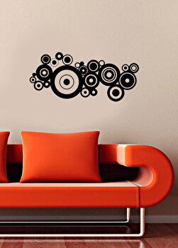 Sticker decorativ de perete Pushy, 246PHY5015, Negru imagine