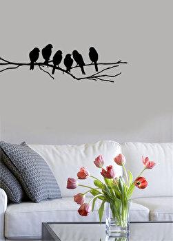 Sticker decorativ de perete Pushy, 246PHY5028, Negru