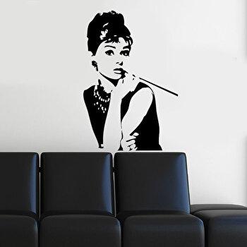 Sticker decorativ de perete Pushy, 246PHY1022, 40 x 60 cm, Negru imagine