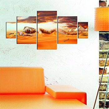 Tablou decorativ multicanvas Dilly 5 Piese, 222DLY1974, Multicolor