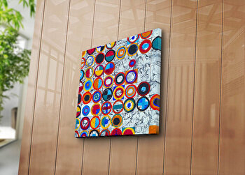 Tablou decorativ pe panza Canvart, 249CVT1215, 45 x 45 cm, Multicolor
