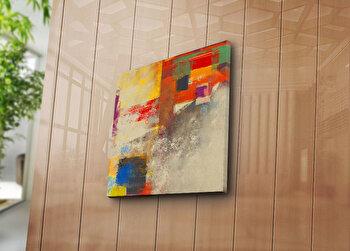 Tablou decorativ pe panza Canvart, 249CVT1209, 45 x 45 cm, Multicolor elefant