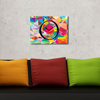 Ceas decorativ Clockity, 248CTY1602, Multicolor imagine