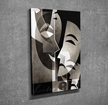 Tablou decorativ pe panza Majestic, 257MJS3222, Gri imagine