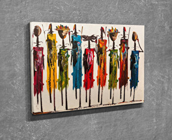 Tablou decorativ pe panza Majestic, 257MJS3236, Multicolor