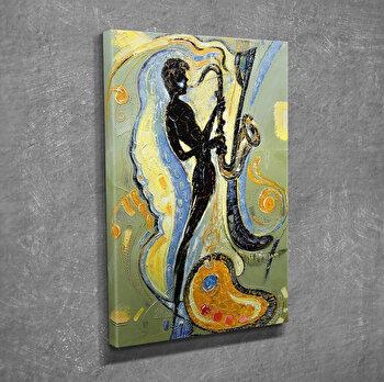 Tablou decorativ pe panza Symphony, 762SYM1209, Multicolor