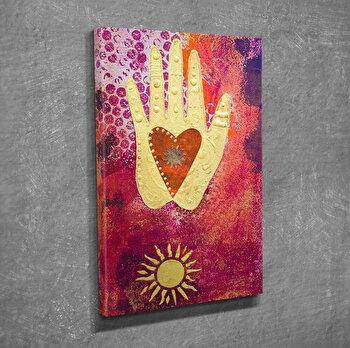 Tablou decorativ pe panza Symphony, 762SYM1215, Multicolor