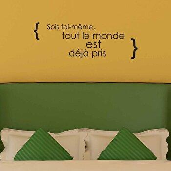 Sticker decorativ de perete French Wall, 753FRE1013, Negru elefant