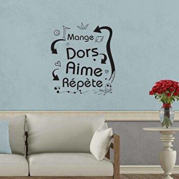 Sticker decorativ de perete French Wall, 753FRE1014, Negru elefant