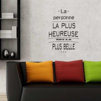 Sticker decorativ de perete French Wall, 753FRE1023, Negru elefant