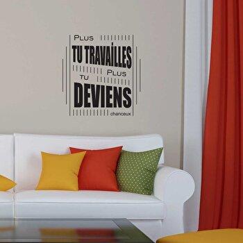 Sticker decorativ de perete French Wall, 753FRE1024, Negru elefant