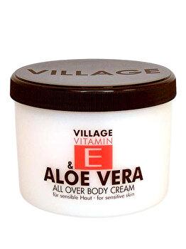 Crema de corp cu Vitamina E si Aloe Vera, 500 ml
