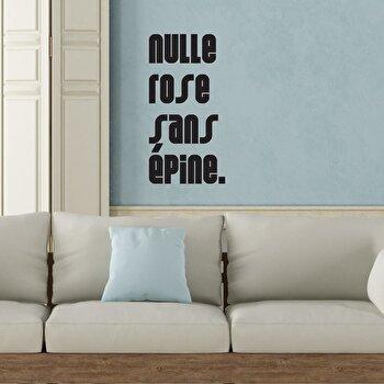 Sticker decorativ de perete French Wall, 753FRE1031, Negru elefant