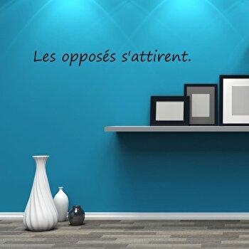 Sticker decorativ de perete French Wall, 753FRE1032, Negru elefant