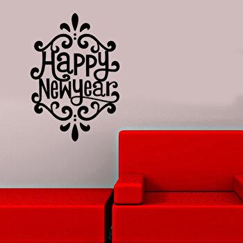 Sticker decorativ de perete Christmas Wall, 229CST1009, Negru