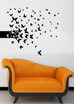 Sticker decorativ de perete Pushy, 246PHY1055, Negru imagine