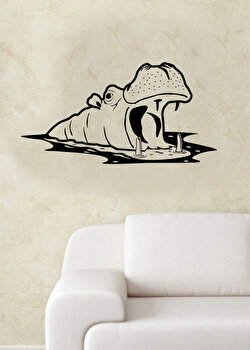 Sticker decorativ de perete Pushy, 246PHY1062, Negru elefant