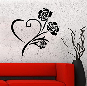Sticker decorativ de perete Pushy, 246PHY1064, 40 x 40 cm, Negru elefant