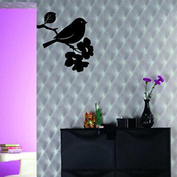 Sticker decorativ de perete Pushy, 246PHY1083, Negru