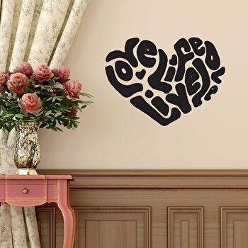 Sticker decorativ de perete Sticky, 260CKY1043, Negru elefant