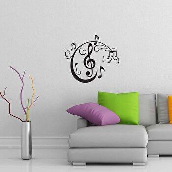 Sticker decorativ de perete Sticky, 260CKY1055, Negru imagine