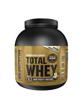Pudra proteica GoldNutrition Total Whey Protein Vanilie, 2 kg GoldNutrition