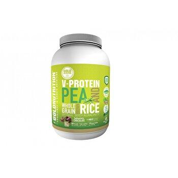 Pudra proteica vegetala, GoldNutrition, aroma ciocolata, 1 KG GoldNutrition