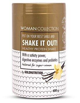 Woman Collection Shake It Out - Pudra proteica Vanilie 400 g de la GoldNutrition
