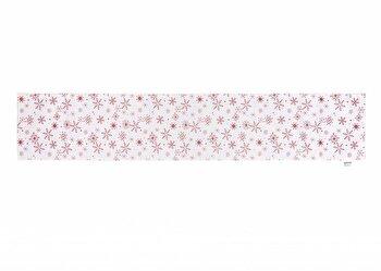 Traversa pentru masa Heinner Craciun HR-HRUN180-XMASA, 180x33 cm, 100 procente poliester, alb imagine