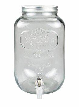 Borcan cu robinet Heinner HR-MP-0143A-AI, din sticla, incolor imagine